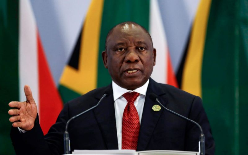 Cyril Ramaphosasaid South Africa 'totally rejects this narrow perception which only seeks to divide our nation' - AFP