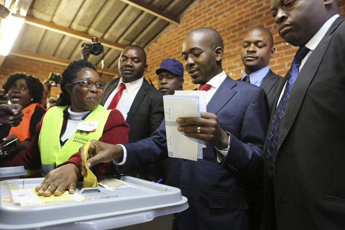 Nelson Chimasa and his partisans believe that 'fake' results gave Mnangagwa  the win