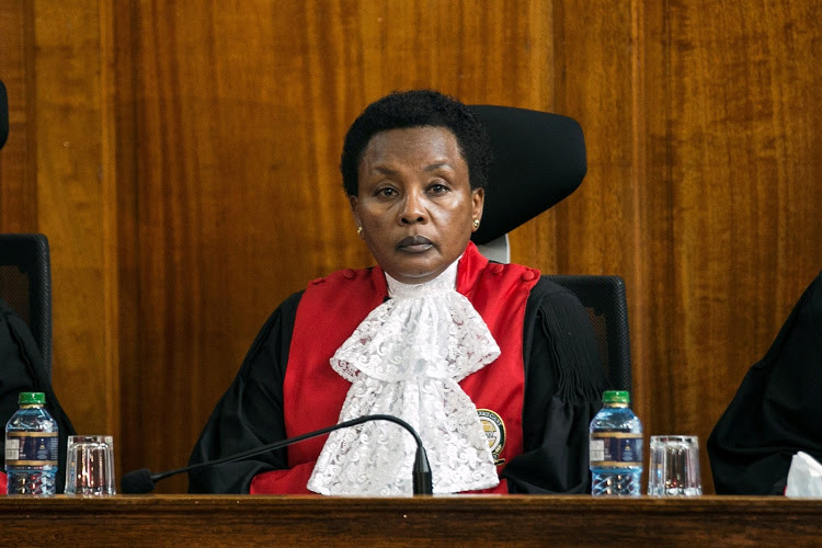 Kenya's deputy chief justice Philomena Mwilu presides during a ruling laying out the reasons for annulling presidential election in Kenya's Supreme Court in Nairobi, Kenya September 20, 2017. Picture taken September 20, 2017. REUTERS/Baz Ratner