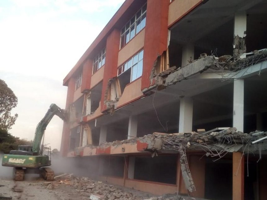 South End Mall on Lang'ata Road in Nairobi, during a demolition exercise on August 8, 2018. /COURTESY