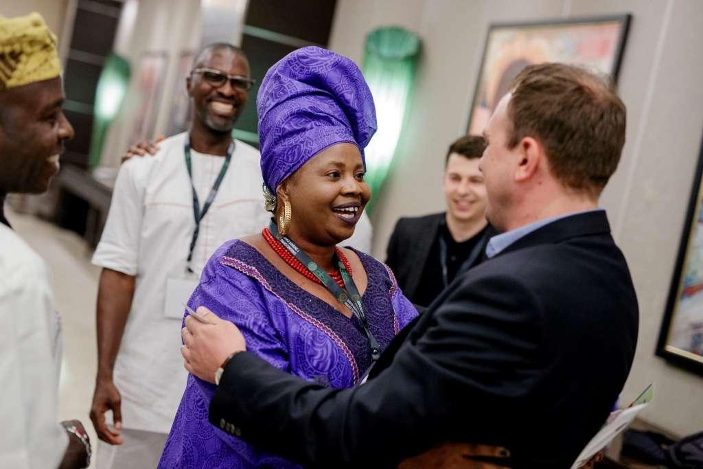 Oradian CEO, Antonio Separovic meets Princess Ogunleye of the Association of Non-Bank Micro Finance Institutions of Nigeria (ANMFIN)