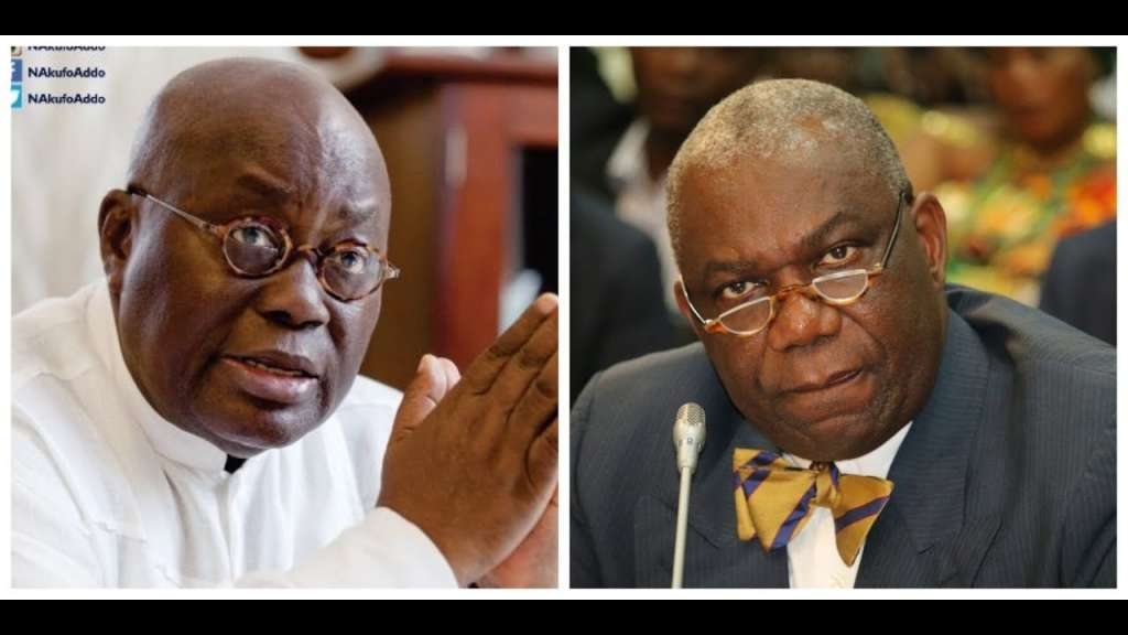 Energy Minister Boakye Agyarko (left) was fired by President Akufo Addo
