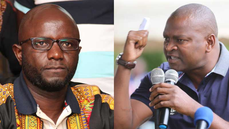 Alego Usonga MP Sam Atandi and Sports Cabinet Secretary Rashid Echesa. Airport manager, police said matter did not warrant their intervention. [Standard Digital]