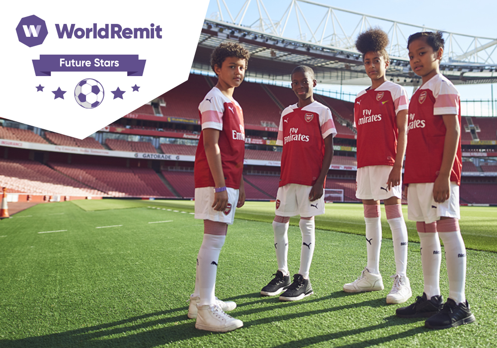 """Six African finalists selected by Arsenal FC and WorldRemit for new """"Future Stars"""" youth coaching programme"""