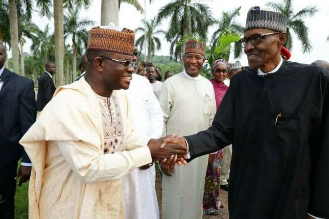 Governor Yahaya Bello has assured President Buhari of more votes from Kogi state in 2019. (Facebook)