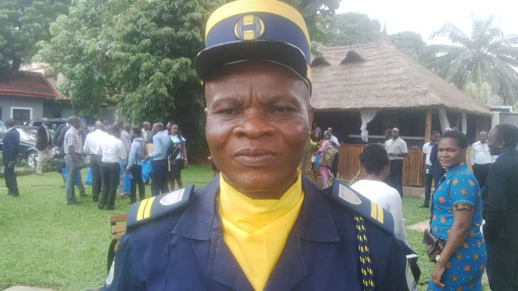 Achi Daniel the junior Halogen Security Guard that found the US returnee's bag full of Dollars and other valuables meant for families and friends in Nigeria.