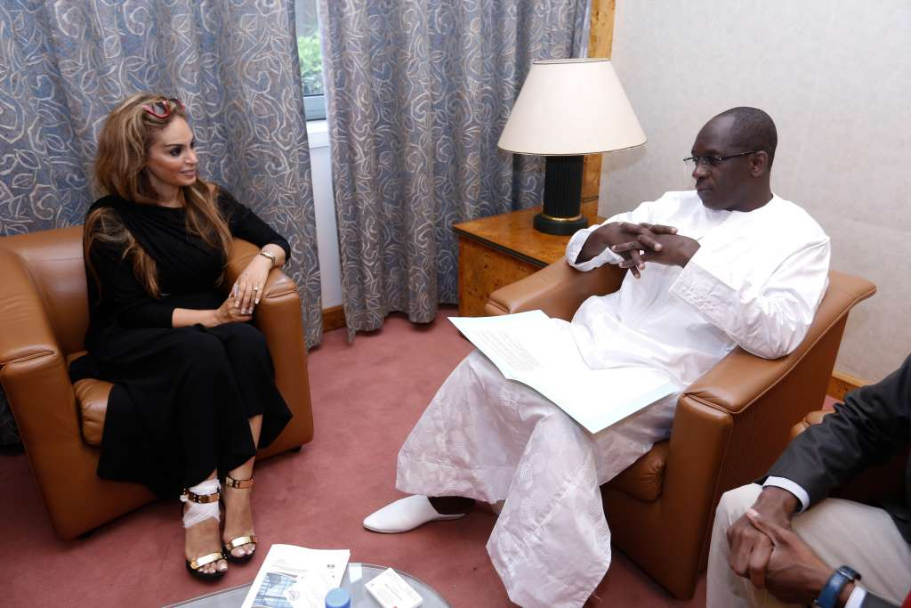 Dr. Rasha Kelej, CEO of Merck Foundation with Hon. Abdoulaye Diouf Sarr, Minister of Health of Senegal