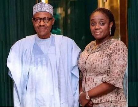 President Buhari and former Minister of Finance, Kemi Adeosun