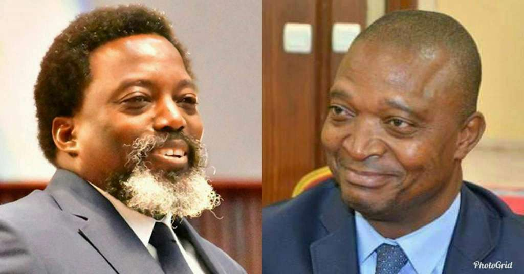 Congolese President, Joseph Kabila (L) and former Interior Minister, Emmanuel Ramazani Shadary (R) who was picked as successor.
