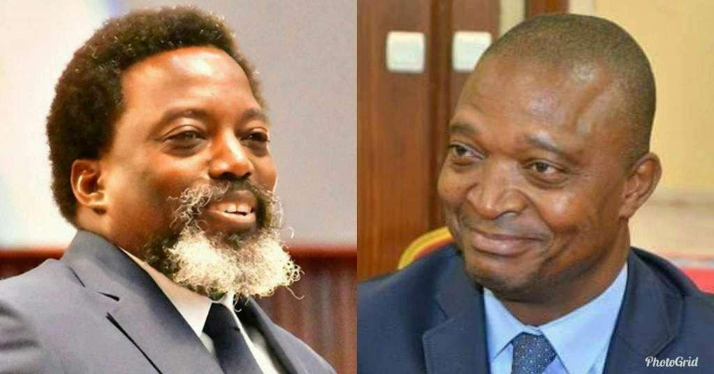 Congolese President, Joseph Kabila (L) and former Interior Minister, Emmanuel Ramazani Shadary (R) who was picked as successor.