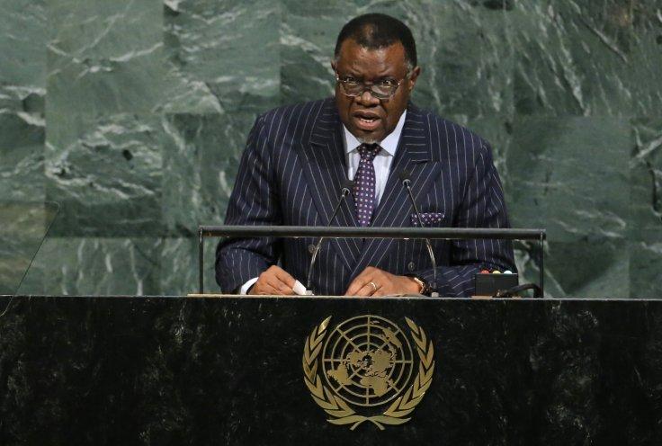 Namibian President Hage Geingob . Lucas Jackson/Reuters file photo
