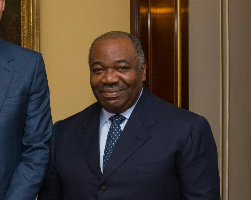Ali Bongo took over as leader of Gabon in 2009 on the death of his father Omar Bongo, who had ruled since 1967 (AFP Photo/Dominic Lipinski)