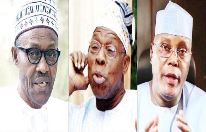 Buhari, Obasanjo and Atiku