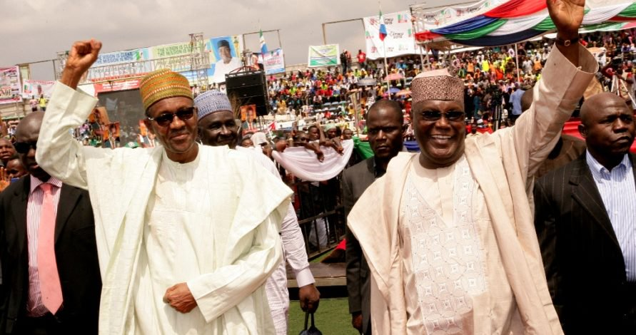 From allies to rivals, President Buhari (l) will face a formidable challenger in Atiku (r)