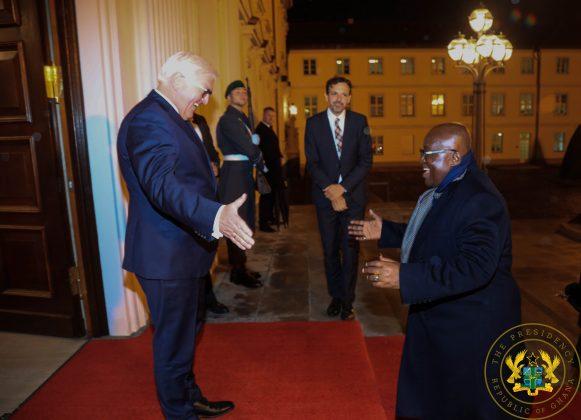 German President Frank Walter Steinmeier welcoming President Akufo Addo