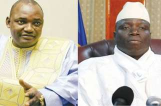 President Adama Barrow and his predecessor Yaya Jammeh