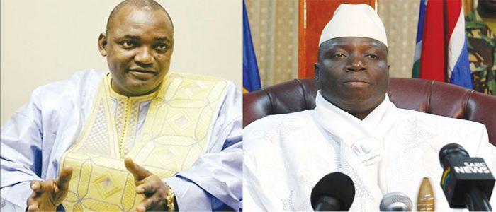 President Adama Barrow and his predecessor Yaya Jammeh