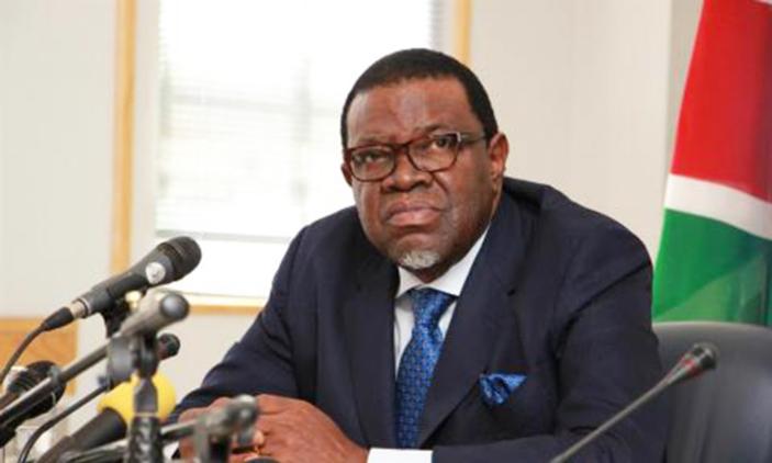 Namibian President Hage Geingob. (Credit: AFP)