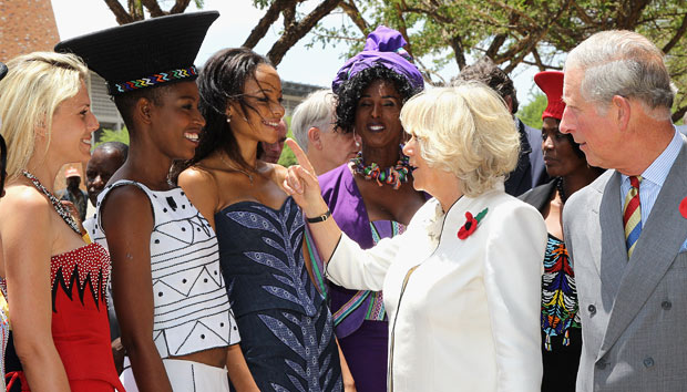 File picture.Prince Charles and Camilla, Duchess of Cornwall met models in traditional Zulu attire as they visited Soweto. Picture: Chris Jackson/Getty Images