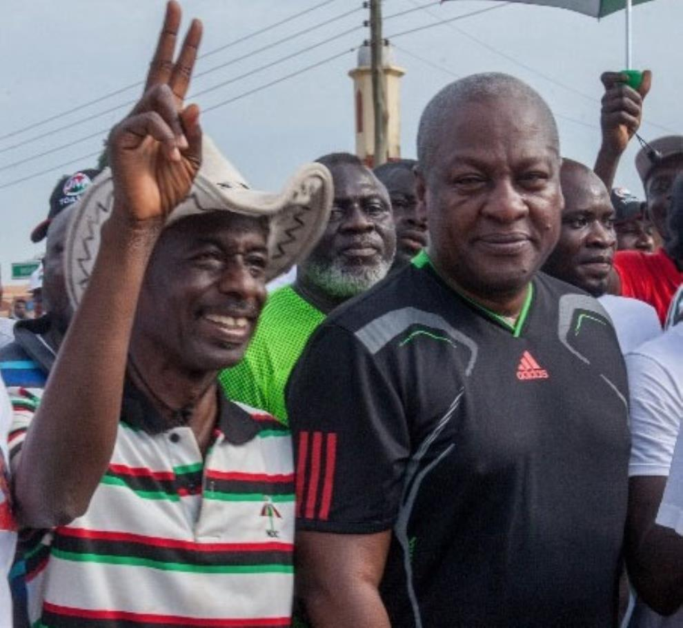 Johnson Asiedu Nketiah with John Mahama (right)