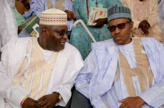 President Muhammadu Buhari (right) with Alhaji Atiku Abubakar