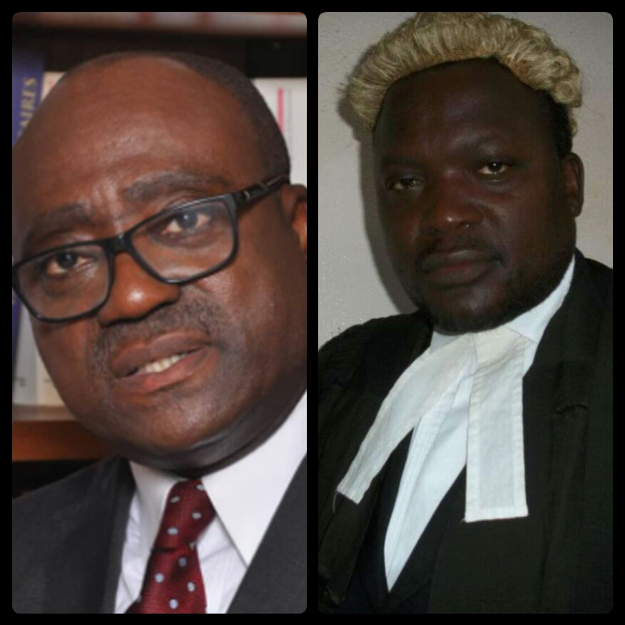 L-R, Barrister Tchakounte Charles, New Bar President and Barrister Morfaw Evaristus, New Bar GA President