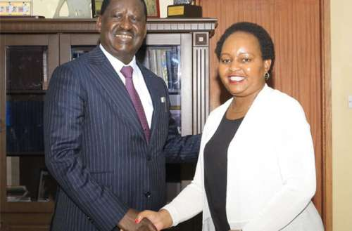 "Waiguru who had sued Odinga for linking her to the loss of Sh 791 million from the National Youth Service (NYS) during her tenure as Cabinet Secretary for Devolution said she had withdrawn the case in the spirit of ""cohesion and reconciliation.""/CFM NEWS"