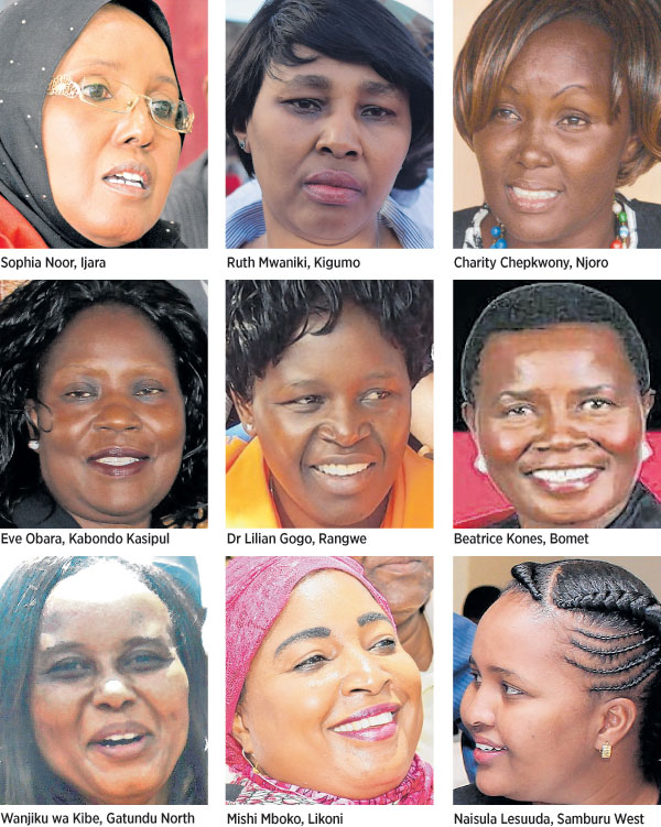A record 22 women had by Thursday won constituency seats in the last  General Election. PHOTO | NATION MEDIA GROUP