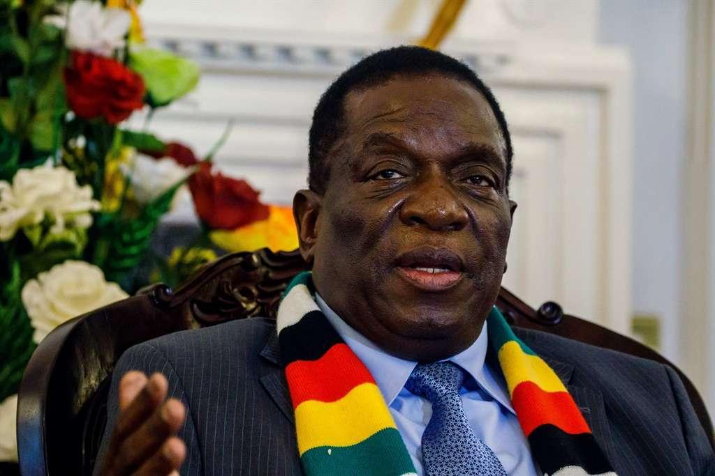 Zimbabwe President Emmerson Mnangagwa (File,AFP)