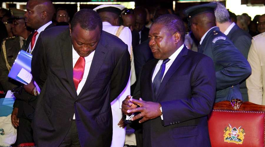 Presidents Uhuru and Nyusi see prosepcts for greater cooperation between Kenya and Mozambique