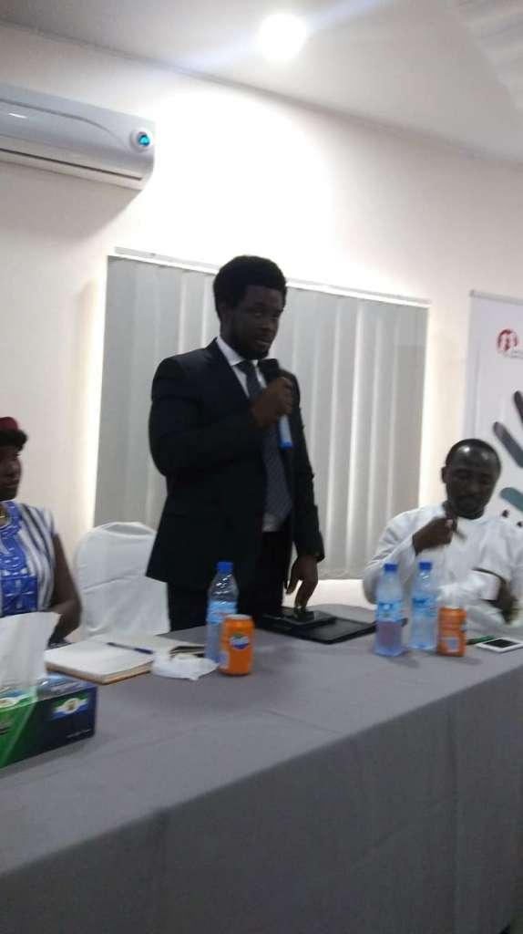 ACC Commissioner, Francis Ben Kaifala speaking during MIWGEM symposium at Cabenda Hotel