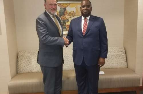 Ambassador Serge Mombouli with Assistant Secretary of State for African Affairs, Tibor Nagy