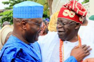 FILE PHOTO: PDP presidential candidate former Vice President  Atiku Abubakar and chieftain of All Progressives Congress (APC) Asiwaju Bola Tinubu