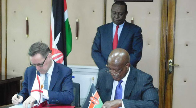 The FRACCK Agreement was signed Tuesday morning by Attorney General Justice (Rtd) Kihara Kariuki on behalf of Kenya and Minister for External Affairs, from the Government of Jersey, Senator Ian Gorst/COURTESY