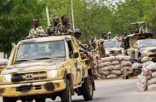 Nigerian Army on patrol in Borno
