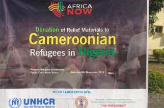 Cameroonian Refugees in Nigeria get Christmas Humanitarian relief items from Africa Now Foundation