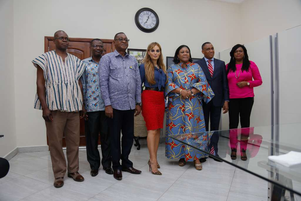 First Lady of Ghana, H.E. Rebecca Akufo-Addo; CEO of Merck Foundation, Dr. Rasha Kelej meet National TV & Film Institution and Fashion Academy to launch competition of best movie and best design to deliver breaking infertility stigma messages which will be launched soon