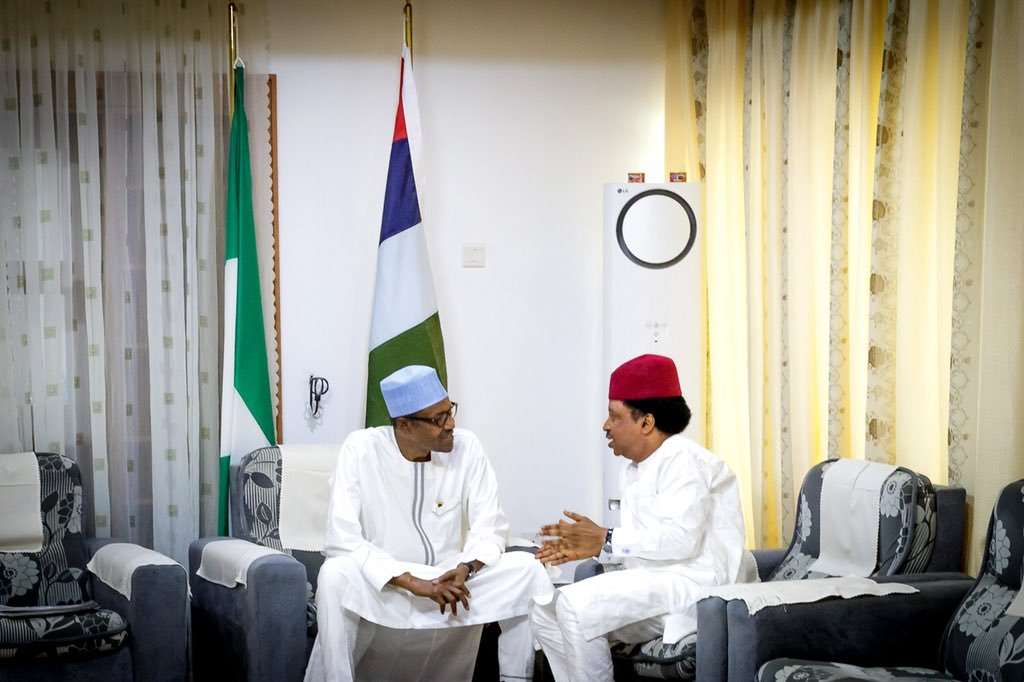 President Muhammadu Buhari with Senator Shehu Sani
