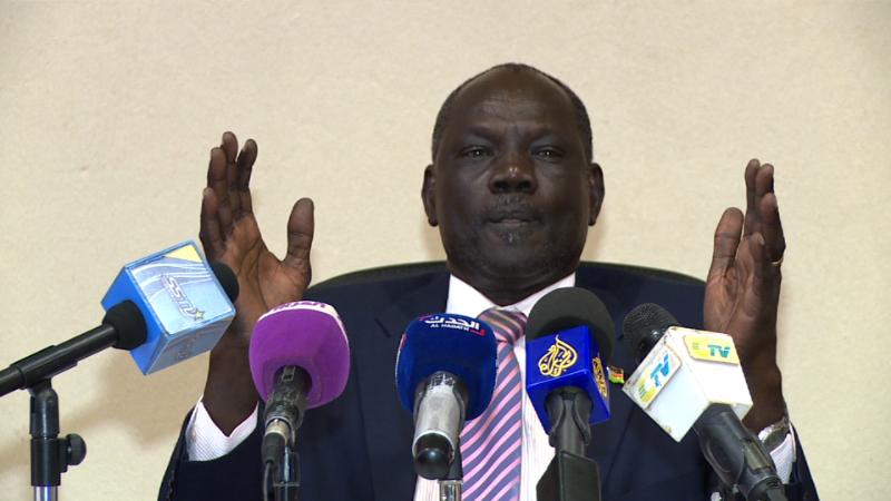 Michael Makuei Lueth. South Sudan information minister Michael Makuei