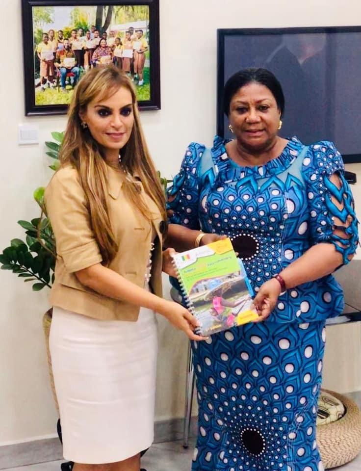 Dr. Rasha Kelej, CEO of Merck Foundation with First Lady of Ghana, H.E. Rebecca Akufo-Addo