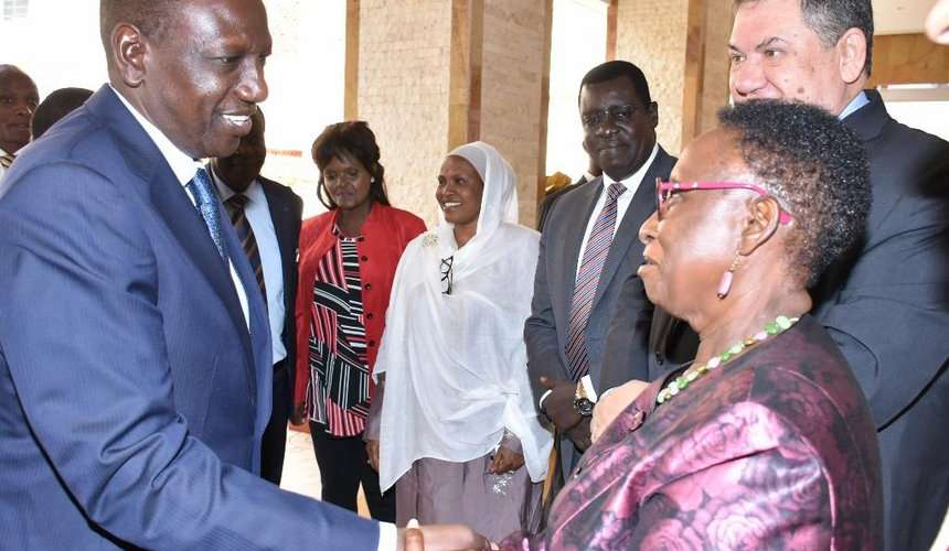 Deputy President William Ruto and Makueni Deputy Governor Adelina Mwau during the official launch of the third National Action Plan on Open Government Partner ship yesterday. /DPPS