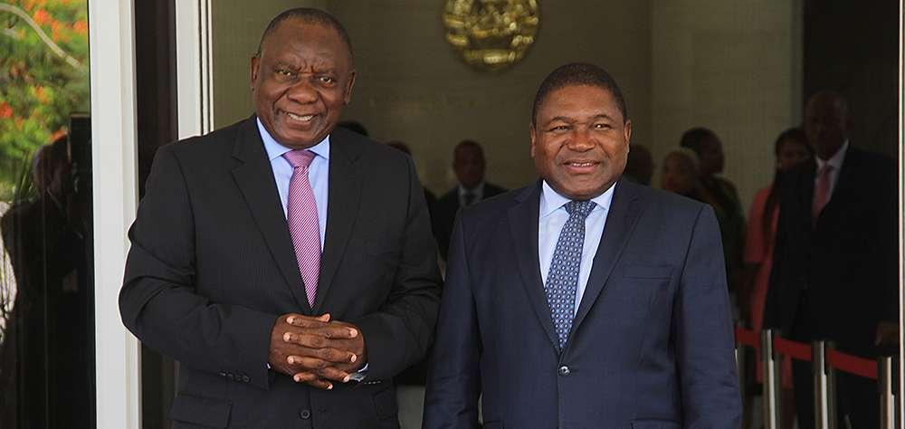 South Africa's Cyril Ramaphosa and Mozambique's Felipe Nyusi