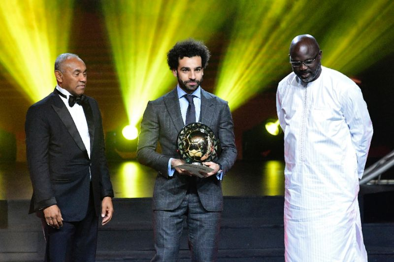 Salah won the African Player of the Year award for the second straight year (AFP Photo/SEYLLOU)