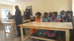 Trained 20 professional pre-primary educators follow instructions during the commissioning of the training centre on Monday (Photo by Mugabo)