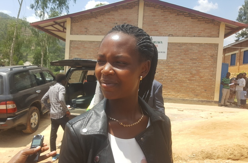 Yvette Uwera is among six teachers who completed a one-month study tour in Belgium last month Photo by Mugabo)