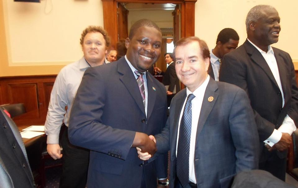 Christian Malanga and Rep. Edward Royce the Chairman of the Committee on Foreign Affairs.