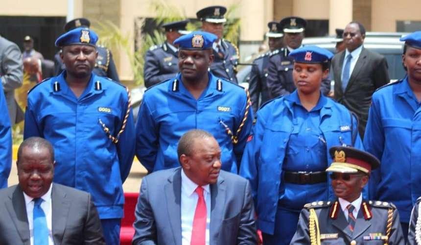 New police uniform unveiled by President Uhuru Kenyatta on September 13, 2018. / COURTESY