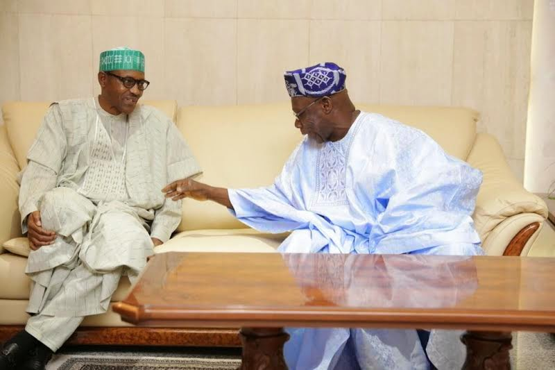 Obasanjo and Buhari in happier times