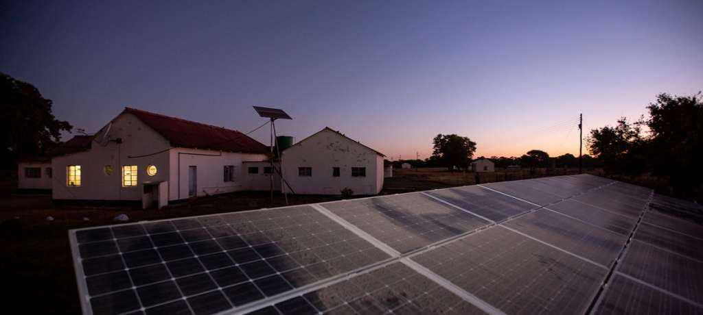 UNDP/Slingshot Solar panels at the Sipepa Rural Hospital in Bulawayo, Zimbabwe