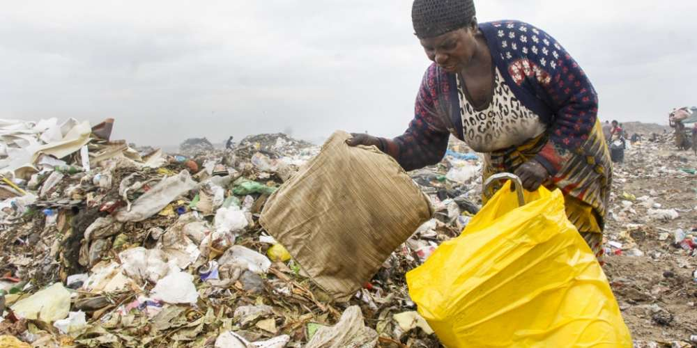 Jacqueline Mwamba, 56 survives through scavanging at Lusaka's Chunga Dumpsite.